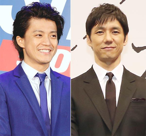 小栗旬と西島秀俊(C)日刊ゲンダイ
