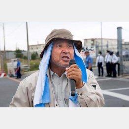 10月17日に逮捕され、長期拘留が続く沖縄基地反対運動のリーダー山城博治さん (提供写真)