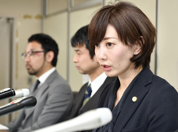 GPS捜査に気付いた亀石倫子弁護士(C)共同通信社