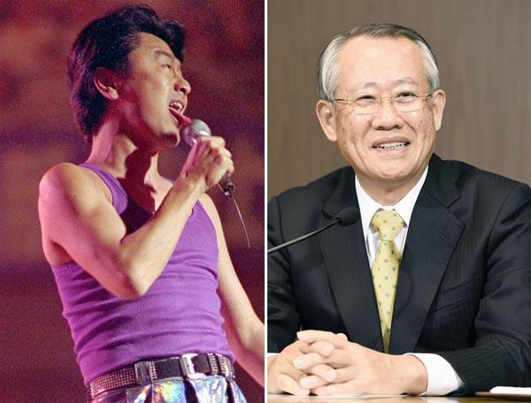 桑田佳祐(左)と上田良一NHK会長/(C)共同通信社