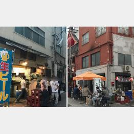 名店「安兵衛」(左)と「正ちゃん」/(C)日刊ゲンダイ