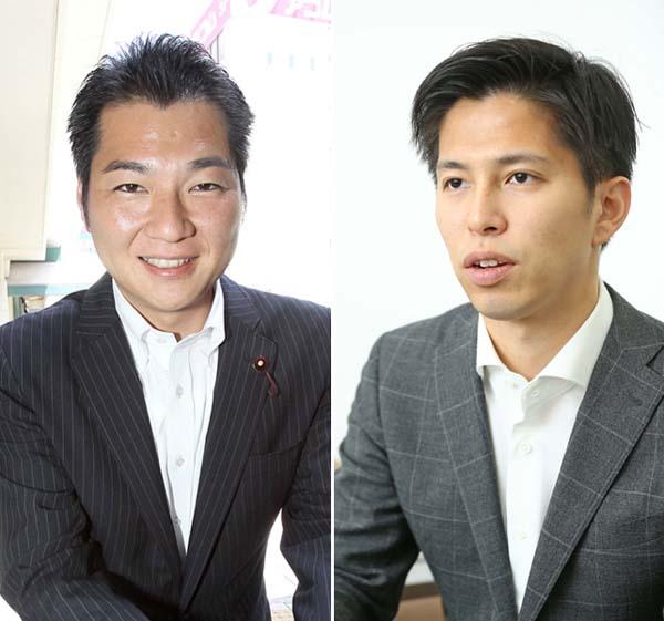 「一軒一軒」という尾島(右)に対して村松(左)は「やはり空中戦」/(C)日刊ゲンダイ