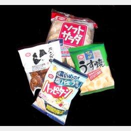"""亀田製菓は""""総選挙""""中/(C)日刊ゲンダイ"""