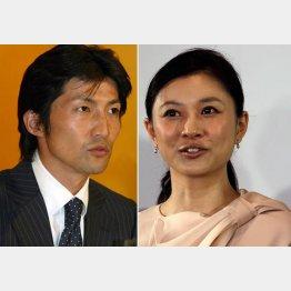 菊川怜(右)と夫の穐田誉輝氏(C)日刊ゲンダイ