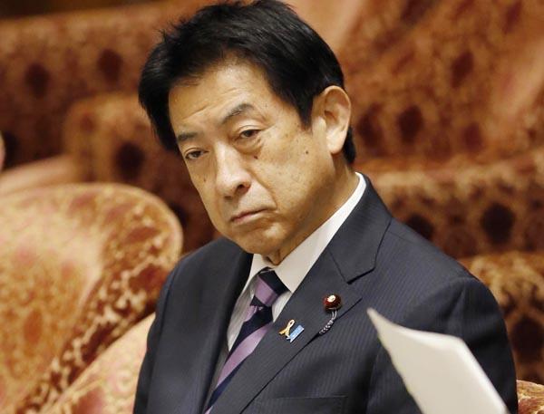 年金改正法が可決し、ニンマリの塩崎厚労相(C)日刊ゲンダイ