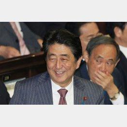 共謀罪の採決で笑顔(C)日刊ゲンダイ