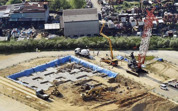 「加計学園」が新設する獣医学部予定の建設現場/(C)共同通信社