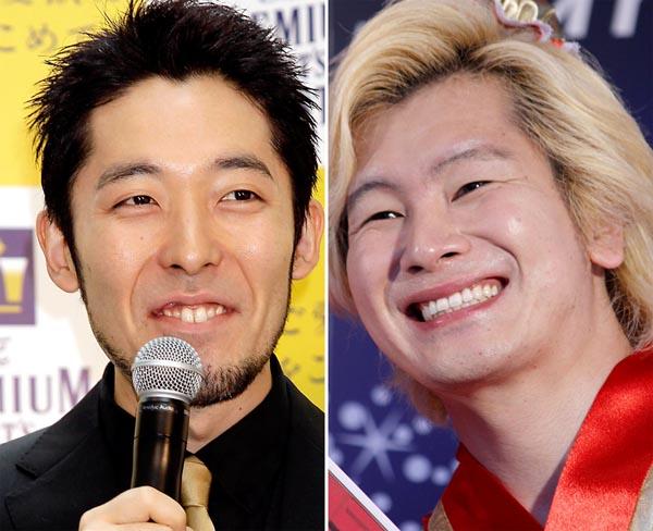 オリエンタルラジオの中田敦彦(左)とメイプル超合金のカズレーザー(C)日刊ゲンダイ
