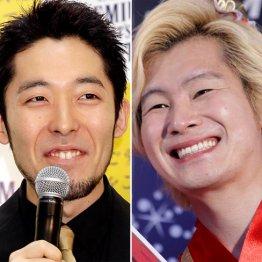 オリエンタルラジオの中田敦彦(左)とメイプル超合金のカズレーザー