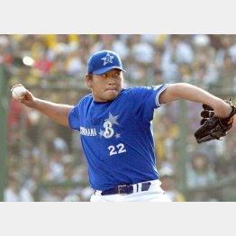 横浜ベイスターズ時代の佐々木投手(C)日刊ゲンダイ