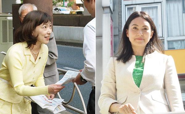 大津浩子(左)と龍円愛梨(C)日刊ゲンダイ