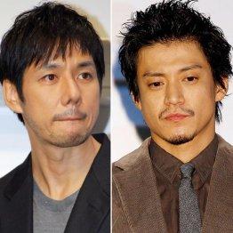 西島秀俊(左)と小栗旬/(C)日刊ゲンダイ
