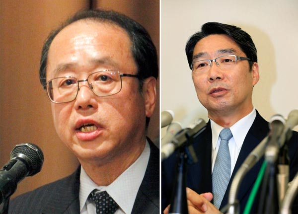 和泉洋人首相補佐官(左)と前川喜平前文科次官(C)日刊ゲンダイ