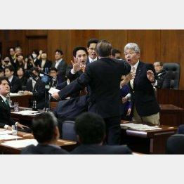 衆院法務委で採決を強行(C)日刊ゲンダイ
