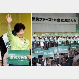 「都民ファーストの会」総決起大会では笑顔で手を振ったが(C)日刊ゲンダイ