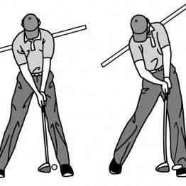 ツアープロはインパクトで左肩が上がり右肩が下がる