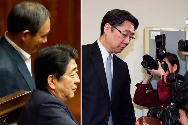 安倍官邸(左)と文科省の前川前次官/(C)日刊ゲンダイ