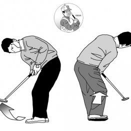 河野高明<24> 球足がよく伸びるパッティングはひざを使う