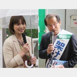 桐山ひとみ候補(左)と山田忠昭候補/(C)日刊ゲンダイ