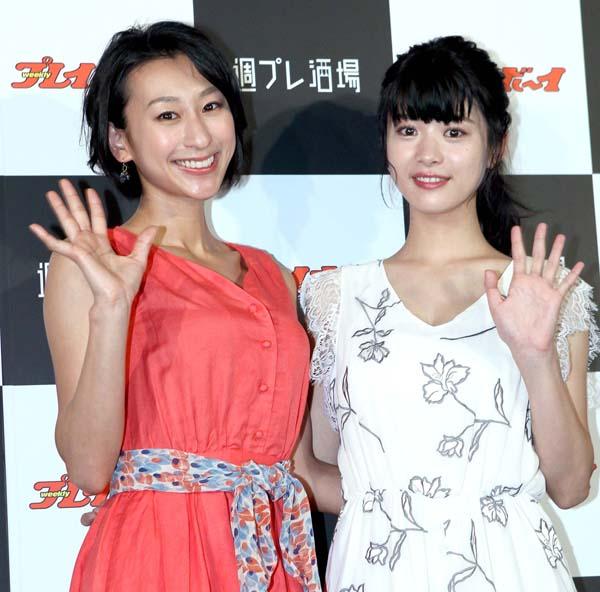 浅田舞(左)と馬場ふみか(C)日刊ゲンダイ