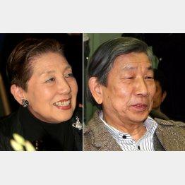 東海林のり子(左)と前田忠明(C)日刊ゲンダイ