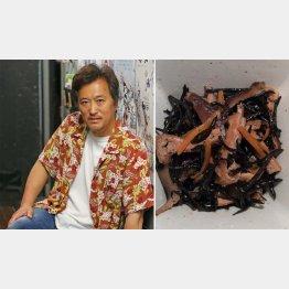 大鶴義丹さんと母・女優の李麗仙さんの「ヒジキの煮物」/(C)日刊ゲンダイ