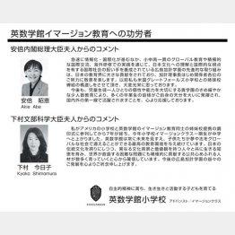 昭恵&今日子夫人がメッセージ(加計学園グループ傘下の小学校パンフレット)