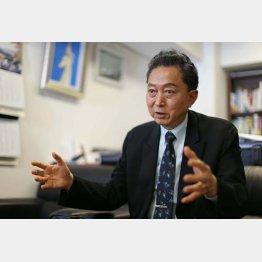 「日本の歩むべきを示したかった」と語る鳩山元首相(C)日刊ゲンダイ