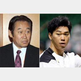 巨人・鹿取新GM(左)とソフトバンク長谷川(C)日刊ゲンダイ