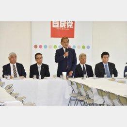 保岡興治・自民改憲本部長(中央)は「1ミリも動かさない」と発言(C)日刊ゲンダイ