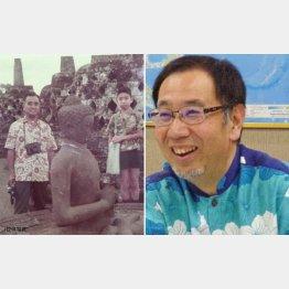 沖縄ツーリストの東良和会長(左は小学5年生の頃にインドネシアのボロブドゥール寺院遺跡で)/(C)日刊ゲンダイ