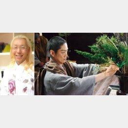 假屋崎省吾氏(左)と主演の野村萬斎(C)2017「花戦さ」製作委員会