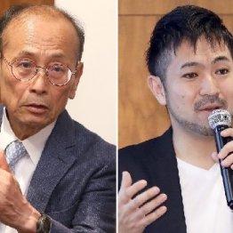 登壇した孫崎享氏(左)と小口幸人氏