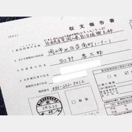加計理事長の名が記されている(C)日刊ゲンダイ
