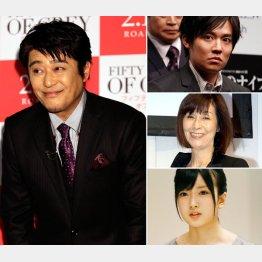 写真左から時計回りに坂上忍、小出恵介、野際陽子、須藤凛々花(C)日刊ゲンダイ