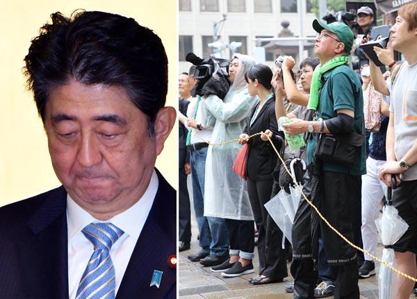 第1次政権とソックリの展開(左)/(C)日刊ゲンダイ