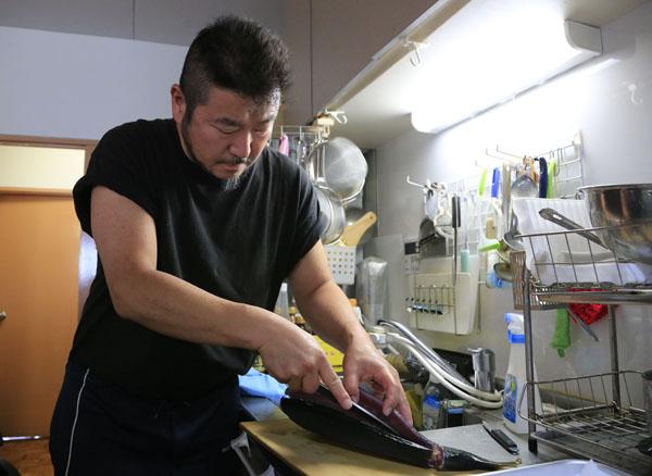 ウエカツ水産社長の上田勝彦さん(C)日刊ゲンダイ