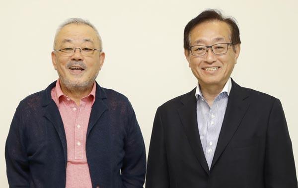 井筒和幸氏(左)と二木啓孝氏/(C)日刊ゲンダイ