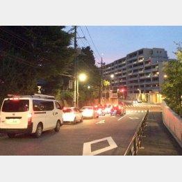 都内の事故現場の様子(C)日刊ゲンダイ