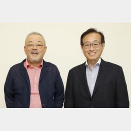井筒和幸映画監督(左)と二木啓孝氏/(C)日刊ゲンダイ