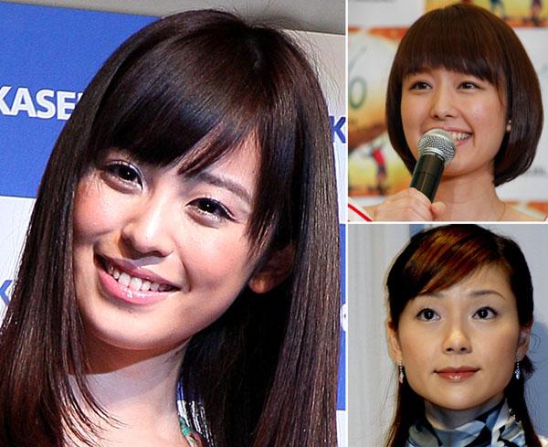 (左から時計回りに)大抜擢の久慈暁子アナ、中村仁美アナ、春日由美アナ(C)日刊ゲンダイ