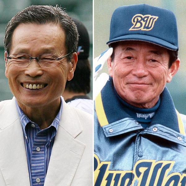 中西太氏(左)は仰木監督と何度もコンビを組んだ(C)日刊ゲンダイ