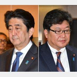 安倍首相(左)と萩生田官房副長官も気が気じゃない/(C)日刊ゲンダイ