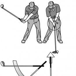 インパクトで手元を引きつける動作が振り遅れを防止する