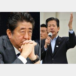 安倍首相(右)と公明党山口代表/(C)日刊ゲンダイ