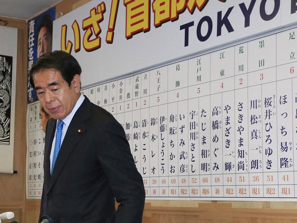都議選で惨敗(C)日刊ゲンダイ