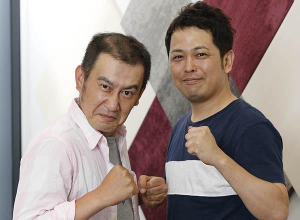 ホームレス経験ありの小田祐一郎(右)と検針のバイトをまだ続ける松本りんす(C)日刊ゲンダイ