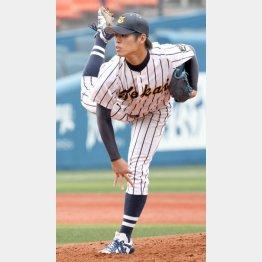昨年、完全試合を達成した東海大の青島凌也投手(C)日刊ゲンダイ