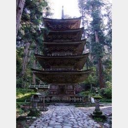 出羽三山神社の五重塔(国宝)/(提供写真)