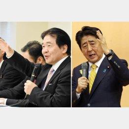 竹中平蔵氏(左)も安倍首相もやりたい放題/(C)日刊ゲンダイ
